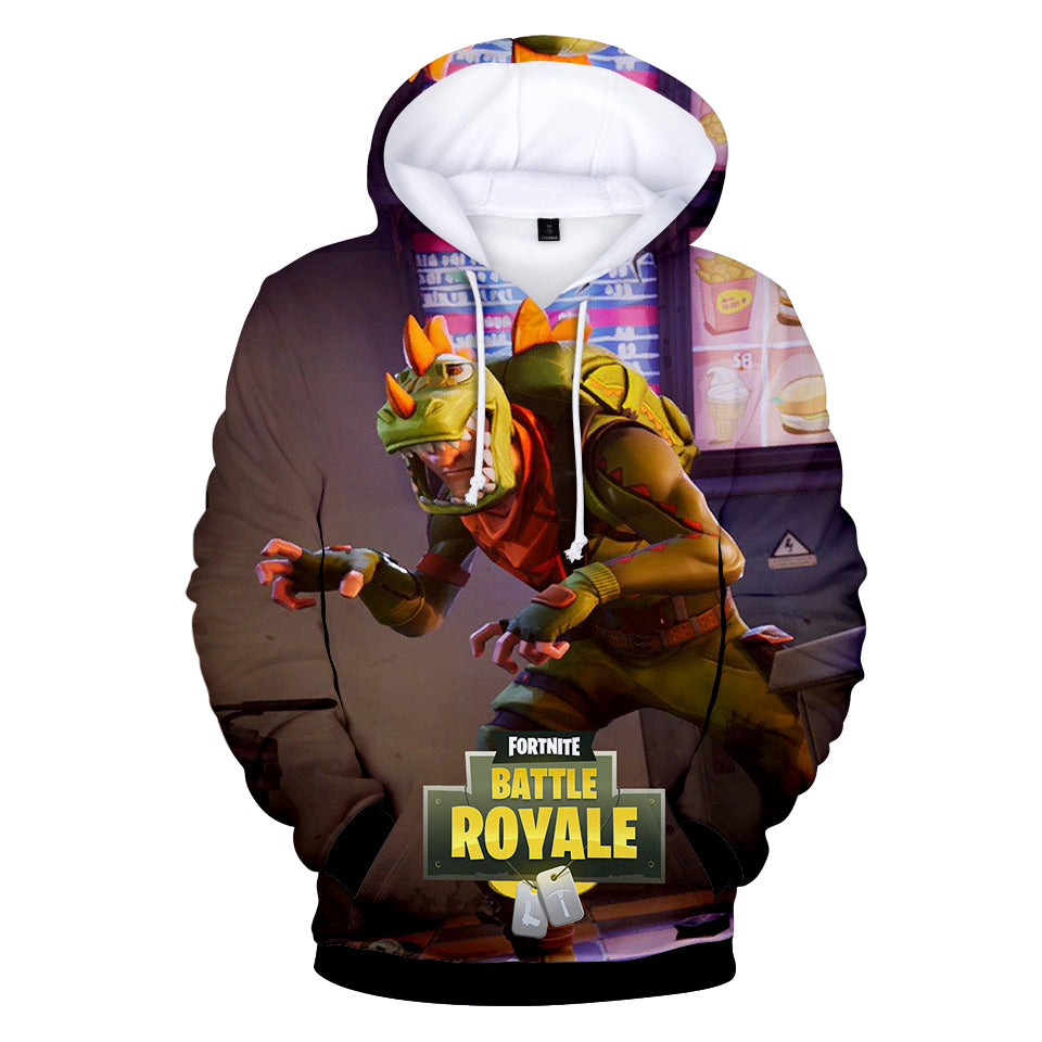 Fortnite Hoodies - Rex and Jungle Scout 3D Hoodie