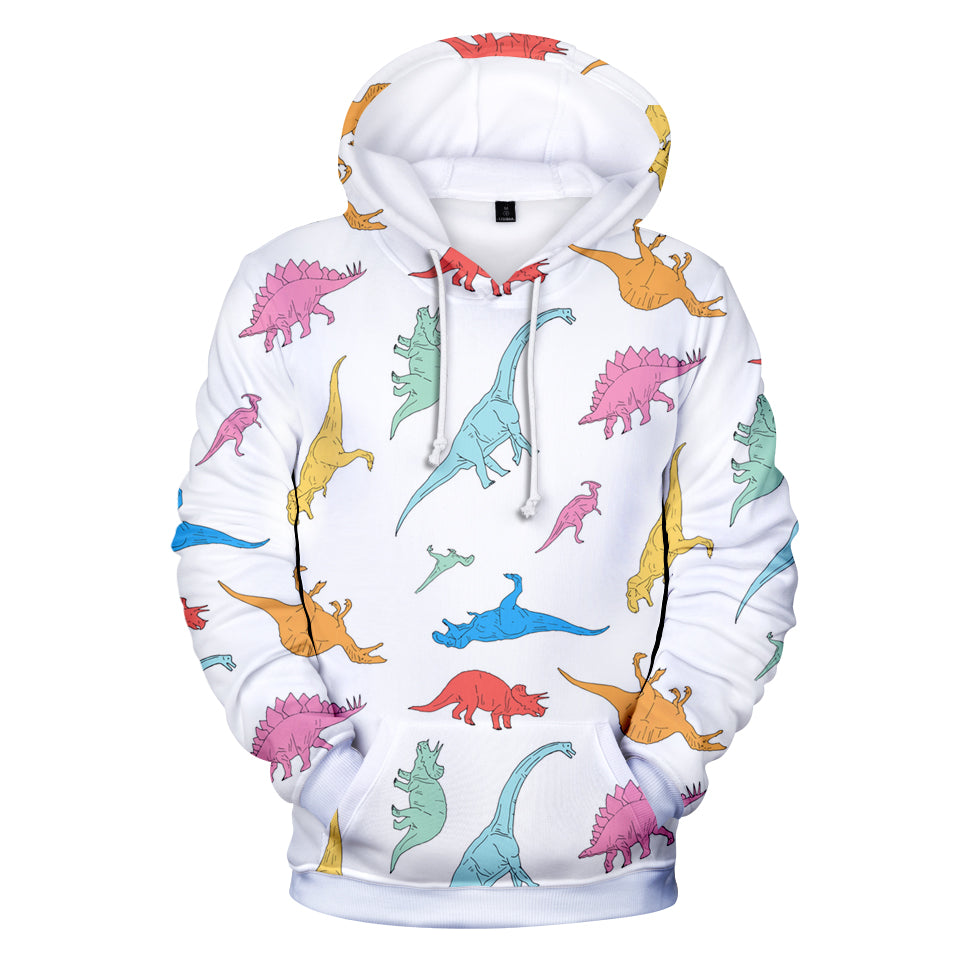 Fortnite Hoodies - Fortnite Dinosaur Pattern 3D Hoodie
