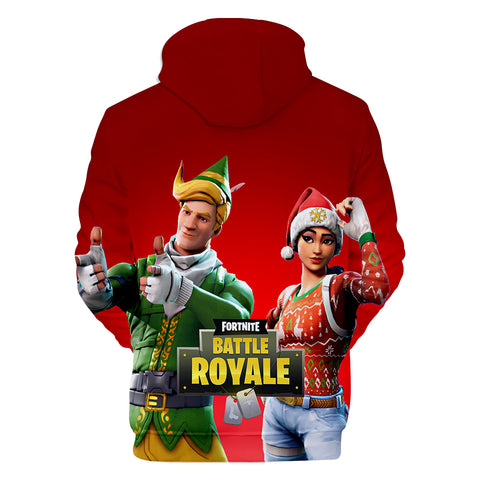 Image of Fortnite Hoodies - Fortnite Game Christmas Series Christmas Dress Up 3D Hoodie