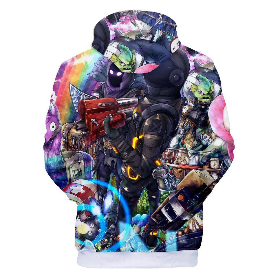 Fortnite Hoodies - Fortnite Characters and Weapons 3D Hoodie