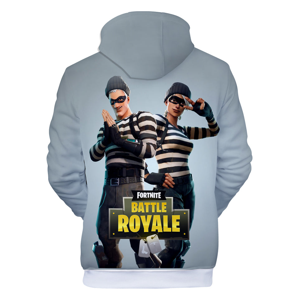 Fortnite Hoodies - Fortnite Prisoner suit 3D Hoodie