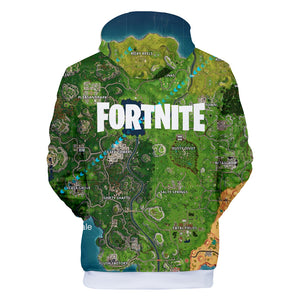 Fortnite Hoodies - Fortnite Battle Map 3D Hoodie