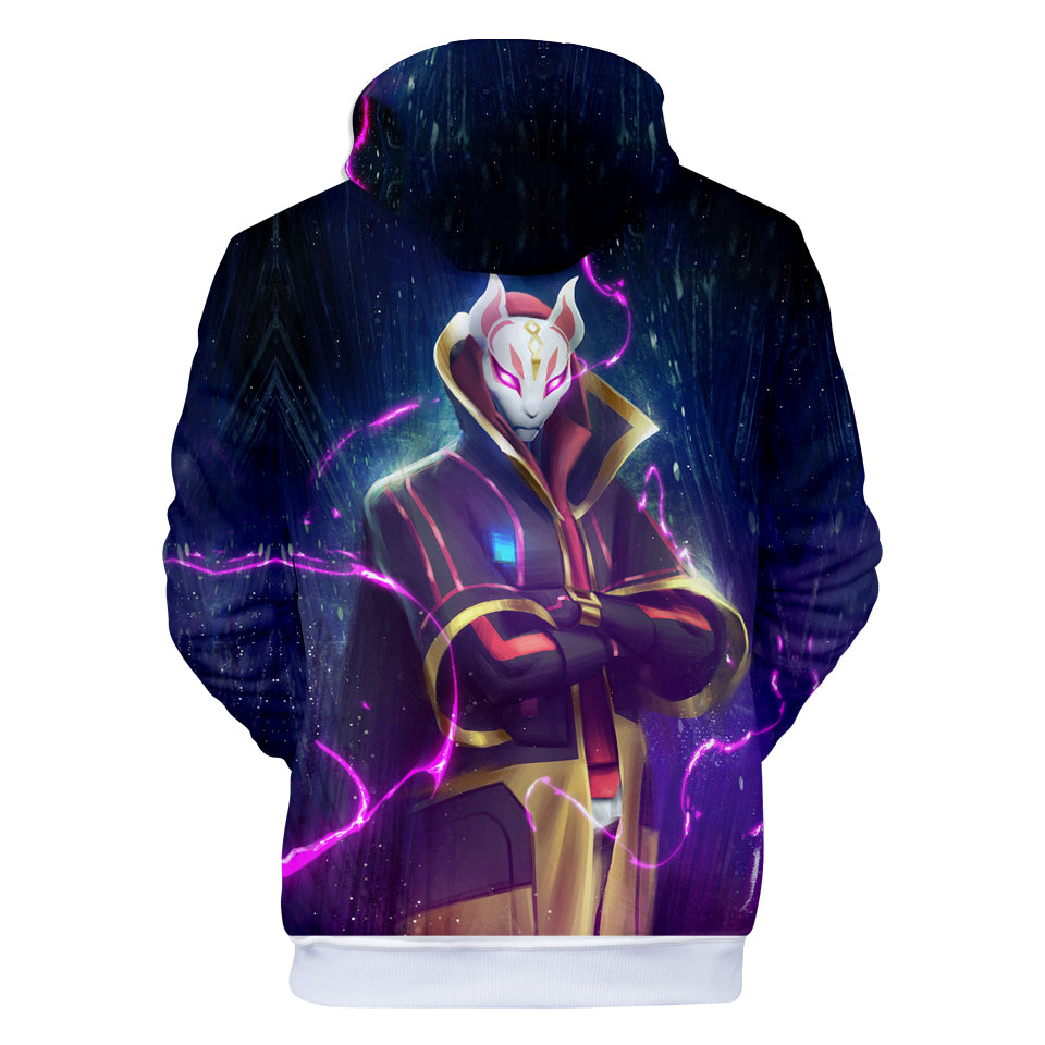 Fortnite Hoodies - Top Grade Sky Fox Lightning 3D Hoodie