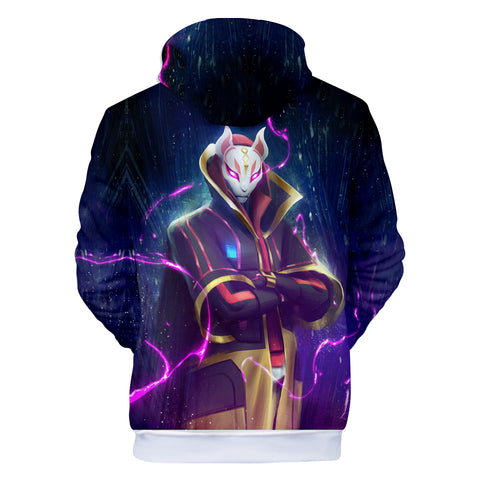 Image of Fortnite Hoodies - Top Grade Sky Fox Lightning 3D Hoodie
