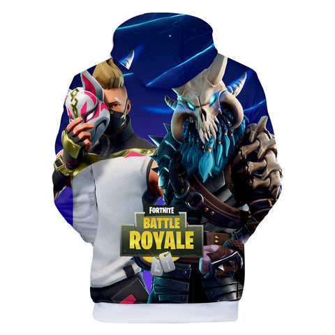 Fortnite Hoodies - Fortnite Sky Fox Hero Mask 3D Hoodie