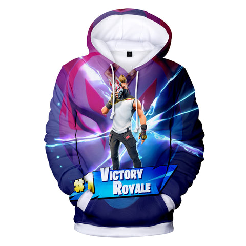 Image of Fortnite Hoodies - Sky Fox Mask Drift 3D Hoodie