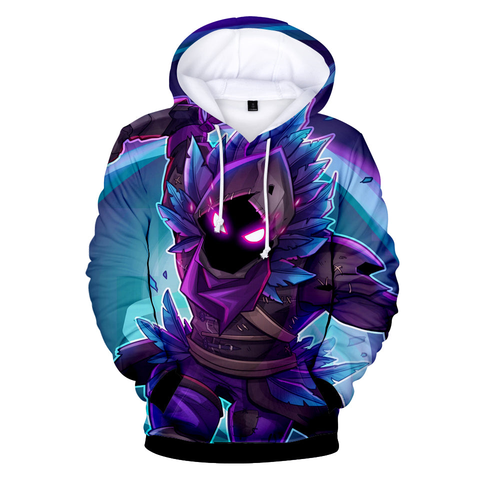 fortnite hoodies raven legendary outfit 3d hoodie for youth adults topwear - raven outfit fortnite