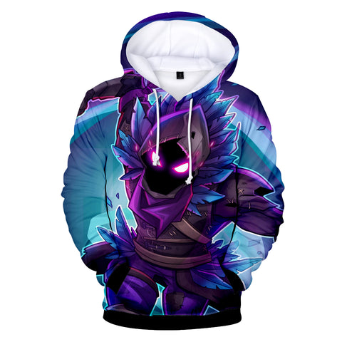 Image of Fortnite Hoodies - Raven Legendary Outfit 3D Hoodie