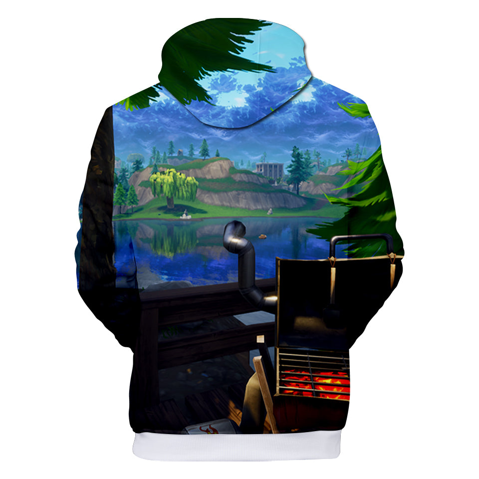 Fortnite Hoodies - Juice Drink Forest 3D Hoodie
