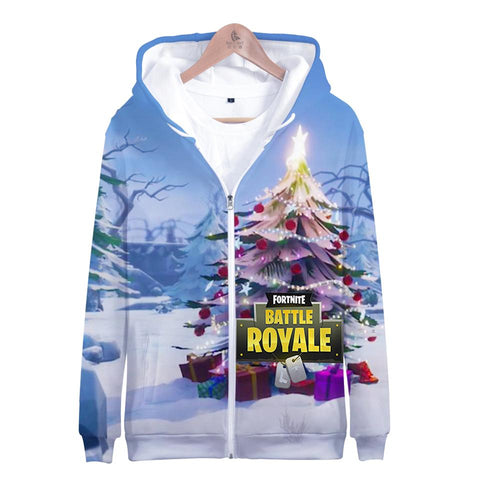 Fortnite Hoodies - Fortnite Game Christmas Series Christmas Tree Super Cool 3D Hoodie