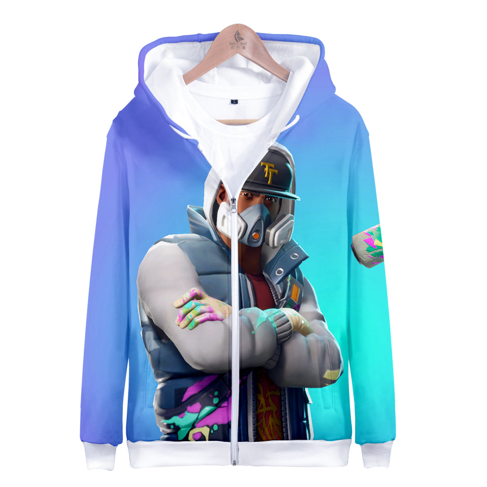 Fortnite Hoodies - Abstrakt 3D Zip Up Hoodie