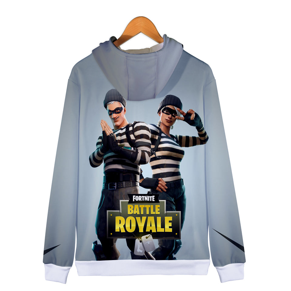 Fortnite Hoodies - Fortnite Prisoner suit 3D Zip Up Hoodie