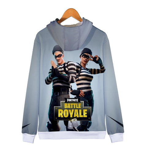 Image of Fortnite Hoodies - Fortnite Prisoner suit 3D Zip Up Hoodie
