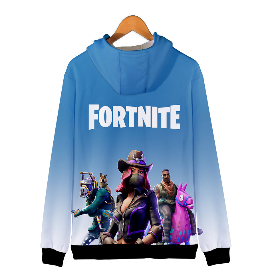 Fortnite Hoodies - Saddle up 3D Zip Up Hoodie