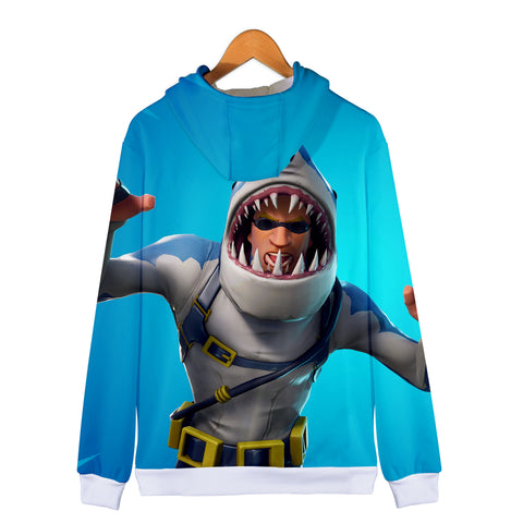 Image of Fortnite Hoodies - Fortnite Chomp Sr.3D Zip Up Hoodie