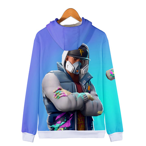 Image of Fortnite Hoodies - Abstrakt 3D Zip Up Hoodie