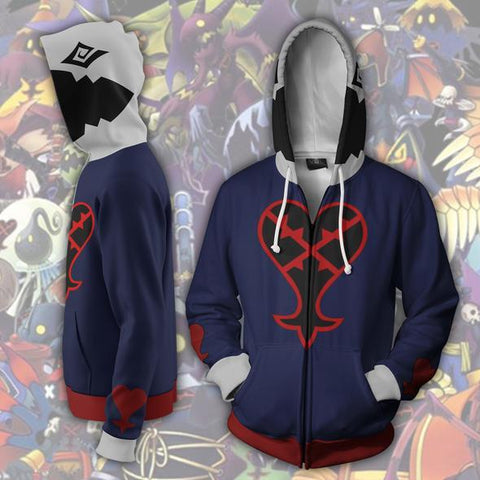 Kingdom Hearts Hoodies - Zip Up Heartless Hoodie