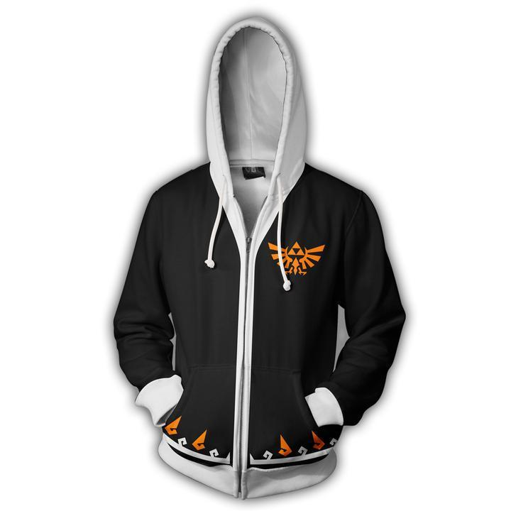 The Legend of Zelda Hoodies - Zip Up Link Black Hoodie