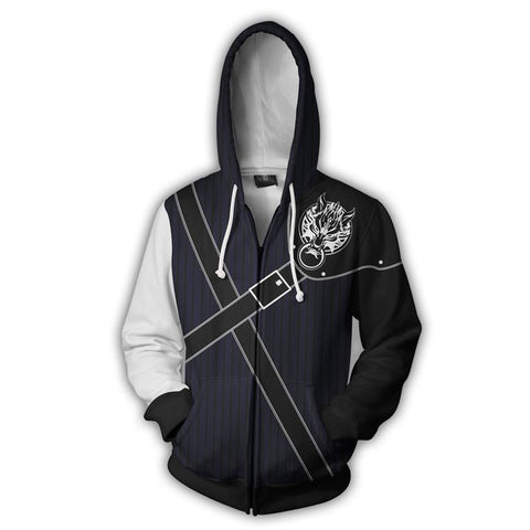Final Fantasy Hoodies -  Zip Up Cloud Strife Hoodie