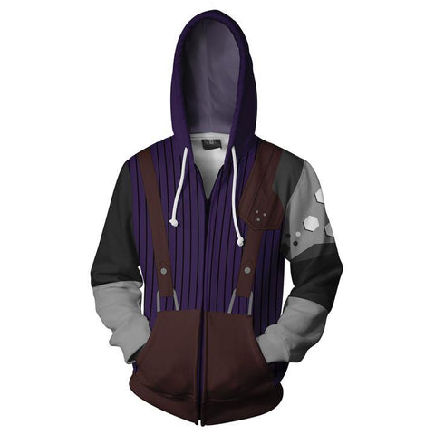Final Fantasy VII Cloud Strife Hoodies - Zip Up Cloud Strife Hoodie