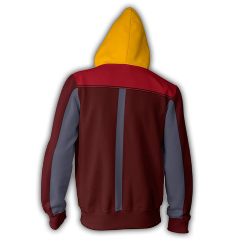 Avatar: The Last Airbender Air Nation Hoodies - Zip Up Burgundy Hoodie