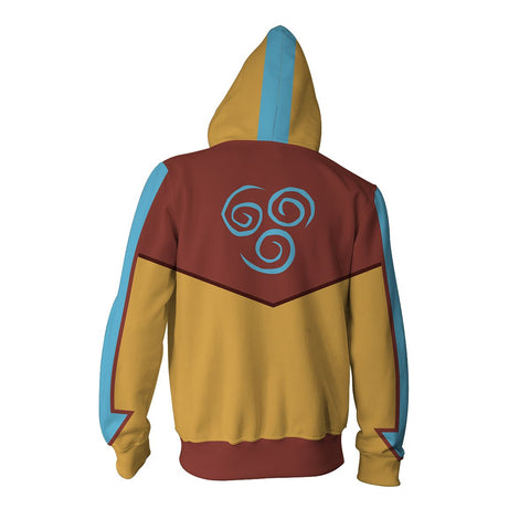 Image of Avatar: Last Airbender Aang Hoodies - Zip Up Hoodie