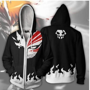 Anime Bleach Zip Up Hoodie