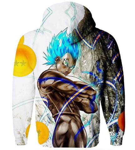 Dragon Ball Z Goku Hoodies - Blue Hair Goku Hoodie