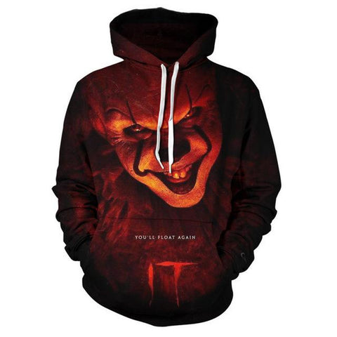 Image of Suicide Squad 3D Printed Hoodies - Joker 3D Hooded Sweatshirt Pullover