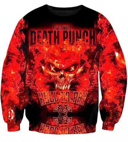 Image of Five Finger Death Punch Hoodies - Five Finger Death Punch Zip Up 3D Hoodie