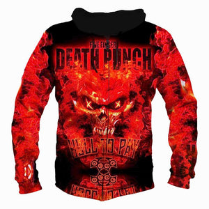 Five Finger Death Punch Hoodies - Five Finger Death Punch Pullover 3D Hoodie