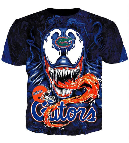 Image of Funny Florida Gators Venom Hoodies - Pullover Long Tongue Monster 3D Hoodie
