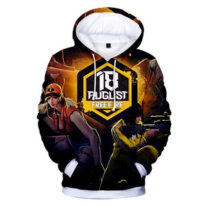 Free Fire Hoodies - Free Fire Game Series Hero Character Battle Royale 3D Hoodie
