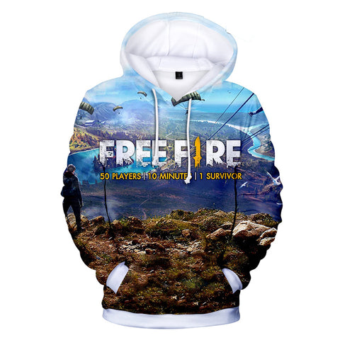 Free Fire Hoodies - Free Fire Game Series Battle Royale Poster 3D Hoodie