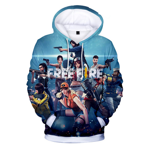 Free Fire Hoodies - Free Fire Game Series NEW Hero Battle Royale Poster 3D Hoodie