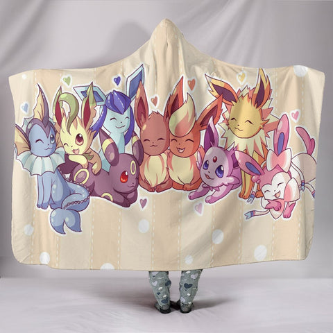 Image of Pokemon Hooded Blankets - Pokemon Eevee Hooded Blanket