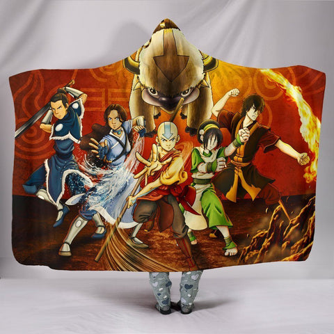 Avatar Hooded Blankets - Avatar The Last Airbender Characters Hooded Blanket