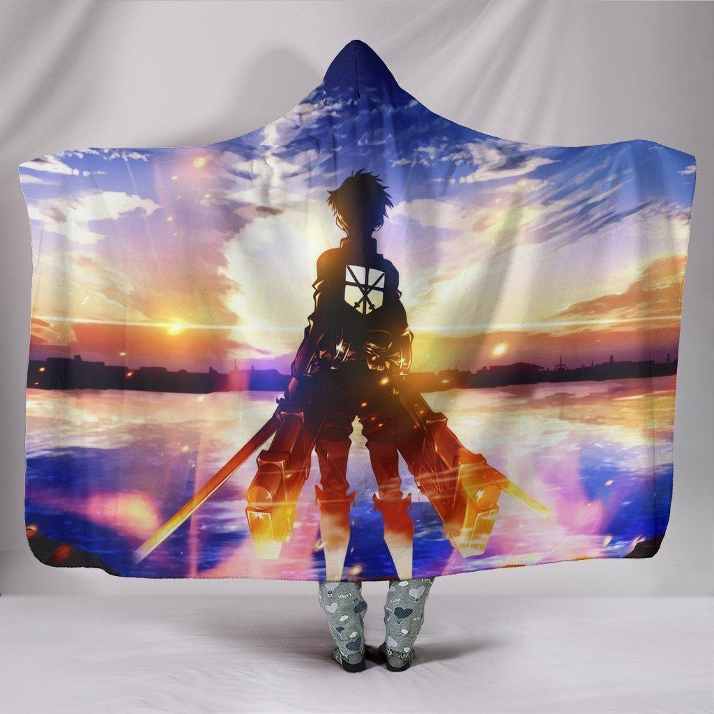 Attack On Titan Eren Jaeger Blanket - Blue Sky Blanket