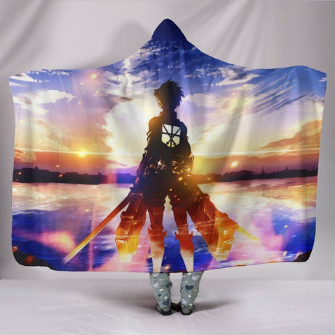 Image of Attack On Titan Eren Jaeger Blanket - Blue Sky Blanket