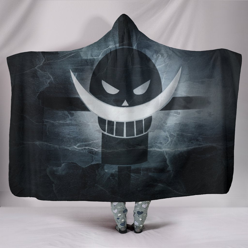 One Piece Hooded Blanket -  Whitebeard Symbol Blanket