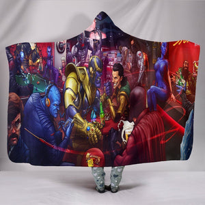Thanos VS Loki Hooded Blanket - Fight Blanket