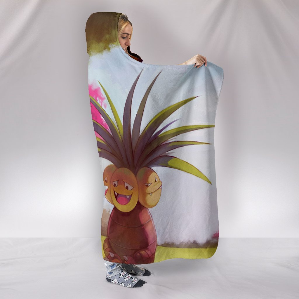 Pokemon Exeggutor Hooded Blanket - Red Blanket