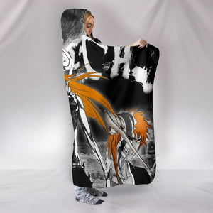Bleach Hollow Ichigo Hooded Blanket - The Death Black Blanket