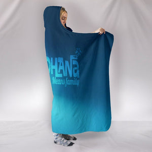 Lilo And Stitch Hooded Blankets - Lilo And Stitch Super Cute Blue Hooded Blanket