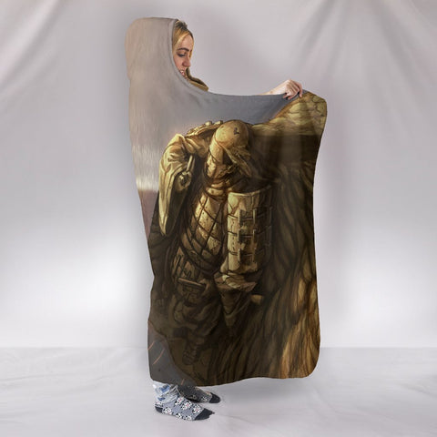 Image of Naruto The Final Valley Hooded Blanket - Grandparents Fight Grey Blanket