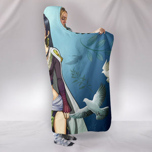 One Piece Boa Hancock Hooded Blanket - White Pigeon Sex Girl Blanket
