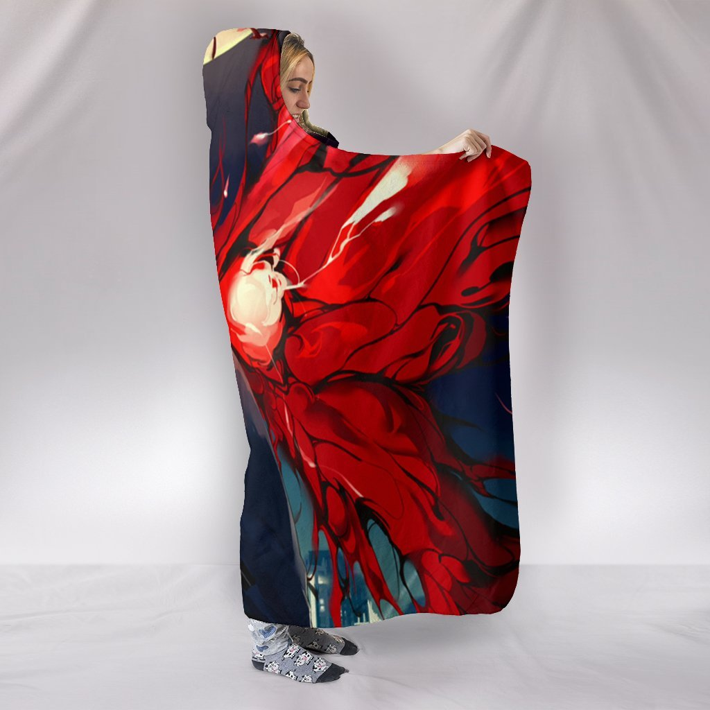 Touka Kirishima Hooded Blanket - Cry Red Blanket