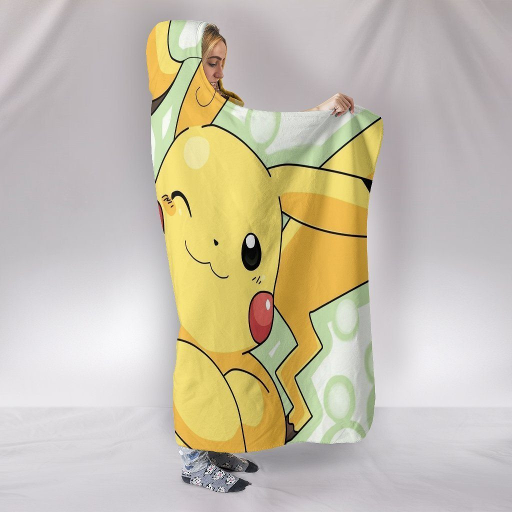 Pokemon Hooded Blankets - Pokemon Raichu Pikachu Hooded Blanket