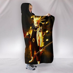 Naruto Hooded Blankets - Naruto and Sasuke Anime Series Super Cool Hooded Blanket