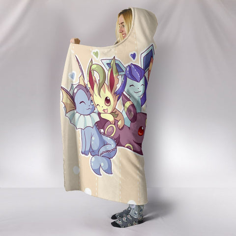 Pokemon Hooded Blankets - Pokemon Eevee Hooded Blanket